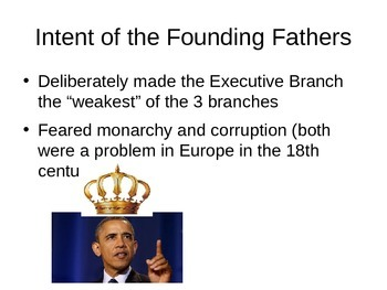 AP US Government Powerpoint on Executive Power -- Limits and Expansions