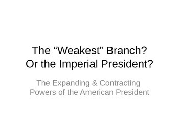 AP US Government Powerpoint on Executive Power -- Limits a