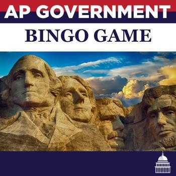 AP U.S. Government Vocabulary BINGO GAME Units 3, 8, 9