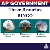 AP Government Three Branches of Government BINGO Game