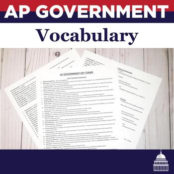AP Government Vocabulary Terms