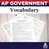 AP Government Vocabulary