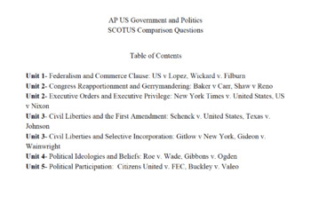 Ap Us Government And Politics Supreme Court Frqs By Wiebe Learning