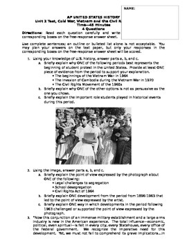 AP US History - 1960s Short Answer Questions