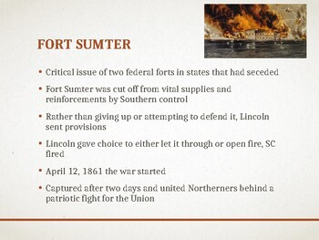 AP US History (APUSH) Chapter 14 PowerPoint:  Civil War, End of Slavery