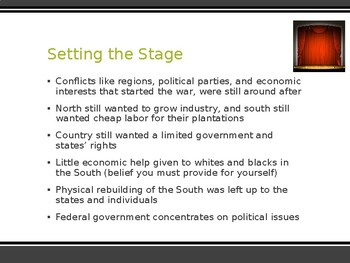 AP US History (APUSH) Chapter 15 PowerPoint:  1st and 2nd Reconstruction