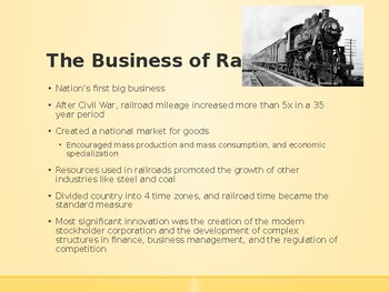 AP US History (APUSH) Chapter 16 PowerPoint:  Big Business, Industrialization