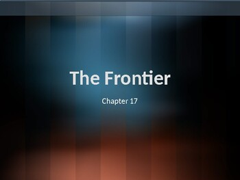 AP US History (APUSH) Chapter 17 PowerPoint: Frontier, Indians, South, Slavery
