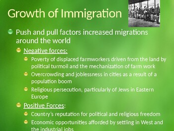AP US History (APUSH) Chapter 18 PowerPoint: Immigration, Urbanization, City Ref