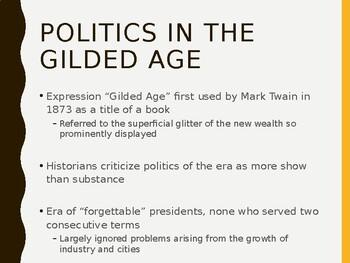 AP US History (APUSH) Chapter 19 PowerPoint:  Politics, Gilded Age, Money Debate