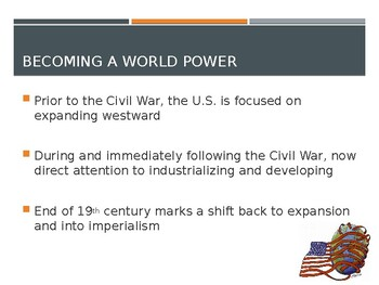 AP US History (APUSH) Chapter 20 PowerPoint:  Spanish American War, Imperialism