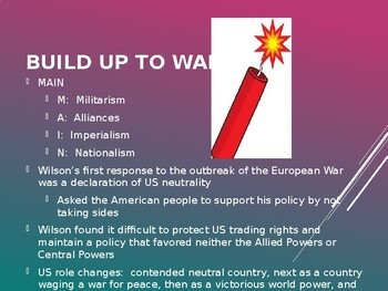 AP US History (APUSH) Chapter 22 PowerPoint:  World War I
