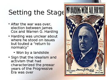 AP US History (APUSH) Chapter 23 PowerPoint: 1920s