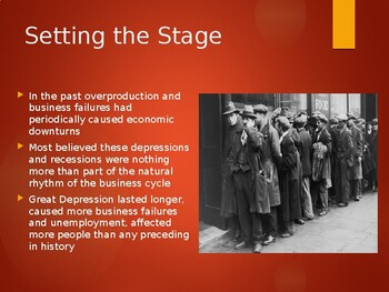 AP US History (APUSH) Chapter 24 PowerPoint:  Great Depression