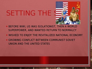 AP US History (APUSH) Chapter 26 PowerPoint:  Post WWII, Cold War, Korea, Red Sc