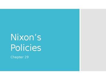 AP US History (APUSH) Chapter 29 PowerPoint:  Nixon, Watergate, Carter