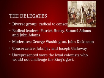 AP US History (APUSH) Chapter 5 PowerPoint:  1/2 Cont. Cong, Rev War, Confed.