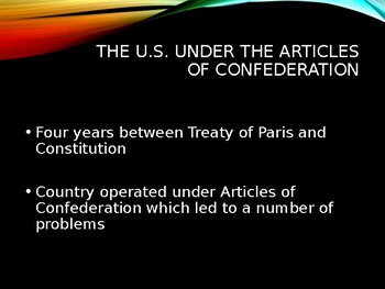 AP US History (APUSH) Chapter 6 PowerPoint:  Const., Federalists, Wash, Adams