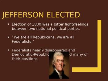 AP US History (APUSH) Chapter 7 PowerPoint:  Jefferson, Docs Analysis, War 1812