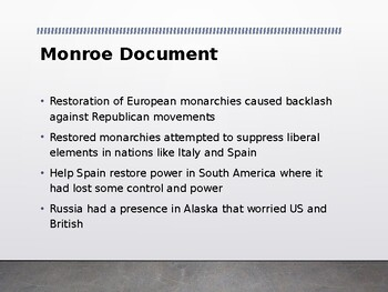AP US History (APUSH) Chapter 8 PowerPoint:  Nationalism, Docs Analysis
