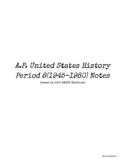 AP US History / APUSH Period 8 Notes (AMSCO 2020)