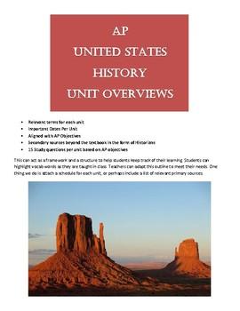 AP US History (APUSH) Unit Overviews