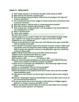 AP US History - American Pageant 13th Edition - Chapter 37 Reading Guides