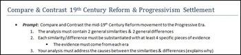 AP U.S. History:  C&C Progressivism & 19th Century Reform Movement