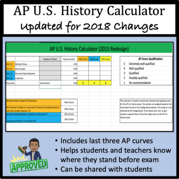 AP U.S. History Calculator - 2015 Redesign Ready!