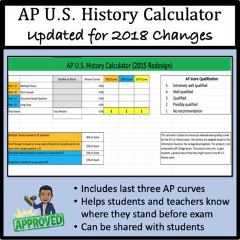 AP U.S. History Calculator - 2018 Ready!
