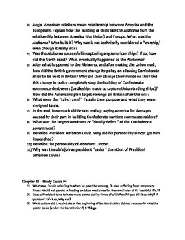AP US History - Chapter 20 Reading/Study Guides - American Pageant 13th edition