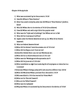 AP US History - Chapter 29 Reading/Study Guides - American Pageant 13th edition