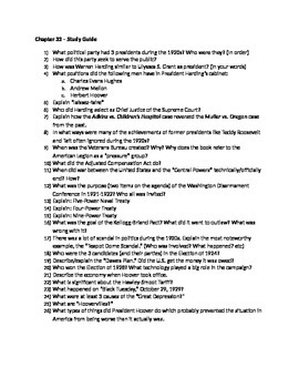 AP US History - Chapter 32 Reading/Study Guides - American Pageant 13th edition