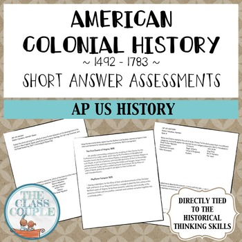 AP US History Colonial American History Critical Thinking Questions