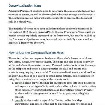 AP U.S. History Contextualization Maps for Periods 1 and 2