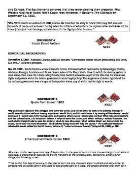 AP U.S. History DBQ Civil War/ Emancipation Proclamation DBQ