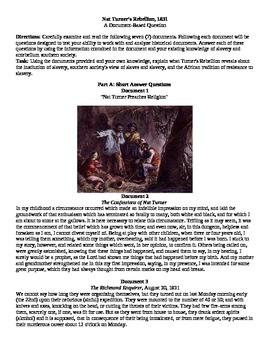 AP U.S. History DBQ Nat Turner Rebellion Question, Documen
