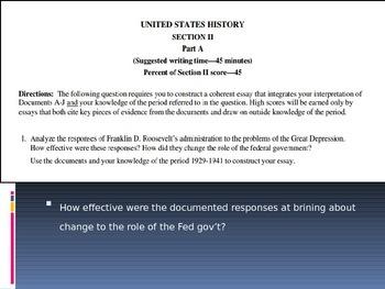 AP U.S. History DBQ Prompt Identification Practice