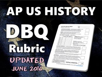 AP US History DBQ Rubric (APUSH)