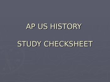 AP US History - End of Year Exam Review - Do You Know? Powerpoint