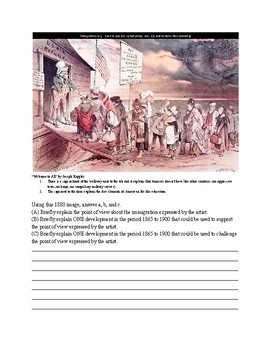 AP US History Gilded Age Immigration Short Answer Quiz