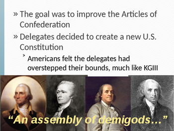 AP US History Key Period 3: Creating A Nation PowerPoint Lecture