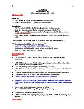 AP US History Lecture Notes #31 (H.W. Bush - Clinton)