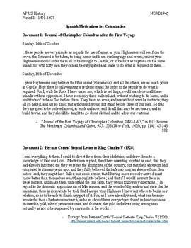 AP US History Period 1:  1491-1607