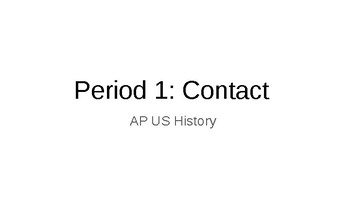 AP US History - Period 1 Contact