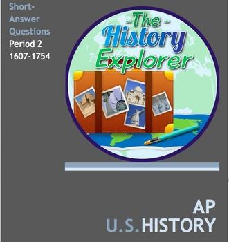 AP U.S. History Period 2 Short Answer Questions