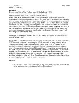 AP US History Period 5:  Civil War Medicine
