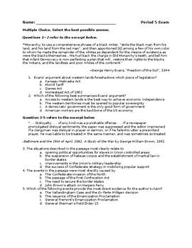 AP US History Period 5 Exam Part 1 (1844-1865)