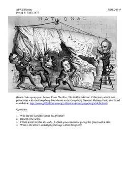 AP US History Period 5:  The Election of 1860