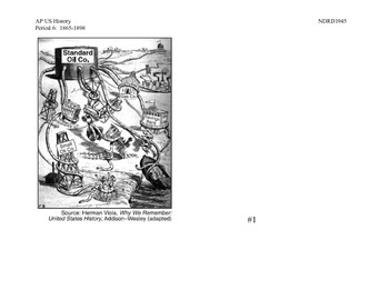 AP US History Period 6:  Political Cartoons of Captains of Industry